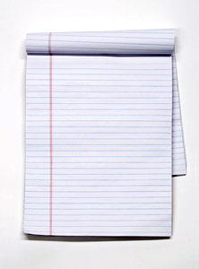 Blank notepad